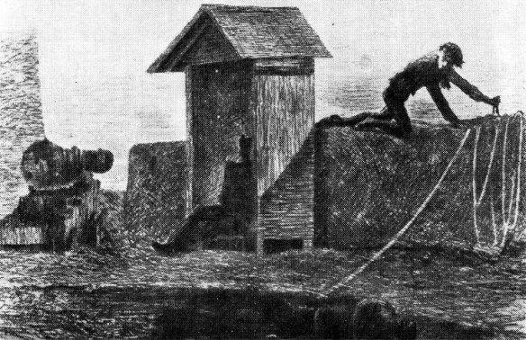 Пармская Бегство Фабрицио дель Донго (Пармская обитель). Рисунок Фукье