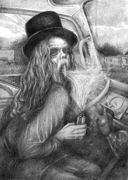 Сол Иллюстрации Эрина Уэллса для ограниченного тиража романа Доктор Сон
