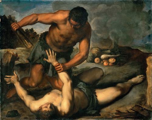 И сказал Каин Авелю, брату своему [пойдем в поле]. И когда они были в поле, восстал Каин на Авеля, брата своего, и убил его.