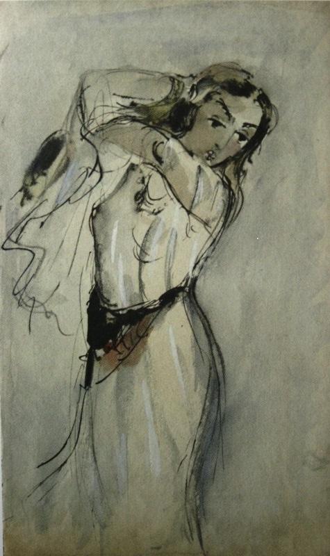Тамань. Татьяна Маврина. Иллюстрация к Тамани. 1940 - копия